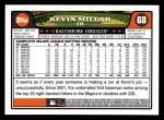 2008 Topps #68  Kevin Millar  Back Thumbnail