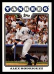 2008 Topps #1  Alex Rodriguez  Front Thumbnail
