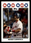 2008 Topps #64  Mike Lowell  Front Thumbnail