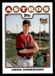 2008 Topps #177  Josh Anderson  Front Thumbnail