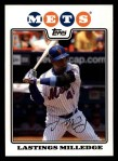 2008 Topps #186  Lastings Milledge  Front Thumbnail