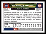 2008 Topps #126  Brandon Jones  Back Thumbnail