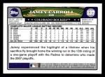2008 Topps #137  Jamey Carroll  Back Thumbnail