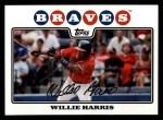 2008 Topps #143  Willie Harris  Front Thumbnail