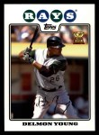 2008 Topps #175  Delmon Young  Front Thumbnail