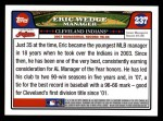 2008 Topps #237  Eric Wedge  Back Thumbnail