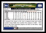 2008 Topps #204  Rafael Furcal  Back Thumbnail
