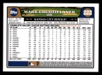 2008 Topps #222  Mark Grudzielanek  Back Thumbnail