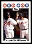 2008 Topps #258  Manny Ramirez / Kevin Youkilis  Front Thumbnail