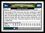 2008 Topps #289  Justin Ruggiano  Back Thumbnail