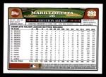 2008 Topps #292  Mark Loretta  Back Thumbnail
