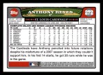 2008 Topps #272  Anthony Reyes  Back Thumbnail