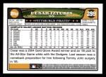 2008 Topps #299  Cesar Izturis  Back Thumbnail
