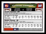 2008 Topps #257  Austin Kearns / Dmitri Young  Back Thumbnail