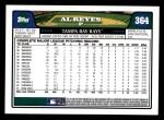 2008 Topps #364  Al Reyes  Back Thumbnail