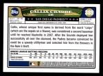 2008 Topps #389  Callix Crabbe  Back Thumbnail