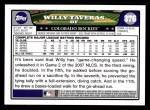 2008 Topps #376  Willy Taveras  Back Thumbnail