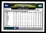 2008 Topps #491  Cliff Floyd  Back Thumbnail