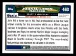2008 Topps #463  John McLaren  Back Thumbnail