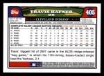 2008 Topps #405  Travis Hafner  Back Thumbnail