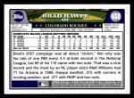 2008 Topps #458  Brad Hawpe  Back Thumbnail