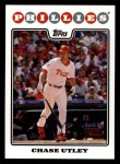 2008 Topps #460  Chase Utley  Front Thumbnail
