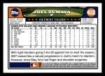 2008 Topps #412  Joel Zumaya  Back Thumbnail