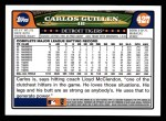 2008 Topps #427  Carlos Guillen  Back Thumbnail