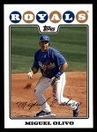 2008 Topps #441  Miguel Olivo  Front Thumbnail