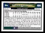 2008 Topps #464  Rocco Baldelli  Back Thumbnail