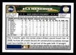 2008 Topps #497  Cla Meredith  Back Thumbnail