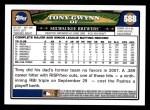 2008 Topps #588  Tony Gwynn Jr.  Back Thumbnail