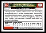 2008 Topps #533  Kyle McClellan  Back Thumbnail