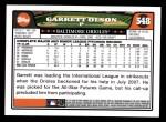 2008 Topps #548  Garrett Olson  Back Thumbnail