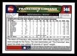 2008 Topps #546  Francisco Liriano  Back Thumbnail