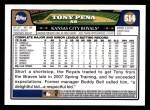 2008 Topps #514  Tony Pena  Back Thumbnail