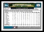 2008 Topps #578  Ricky Nolasco  Back Thumbnail