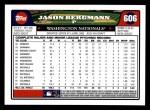 2008 Topps #606  Jason Bergmann  Back Thumbnail