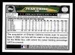 2008 Topps #639  Juan Uribe  Back Thumbnail