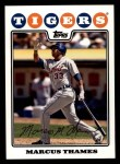 2008 Topps #641  Marcus Thames  Front Thumbnail