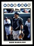 2008 Topps #652  Rod Barajas  Front Thumbnail