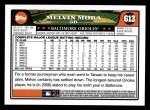 2008 Topps #613  Melvin Mora  Back Thumbnail