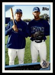 2009 Topps #22   -  Evan Longoria / David Price First Rate Front Thumbnail