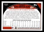 2009 Topps #56  Edwin Encarnacion  Back Thumbnail