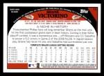 2009 Topps #73  Shane Victorino  Back Thumbnail