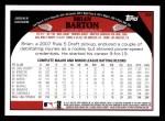 2009 Topps #62  Brian Barton  Back Thumbnail