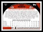 2009 Topps #3  Andy Marte  Back Thumbnail