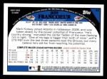 2009 Topps #42  Jeff Francoeur  Back Thumbnail
