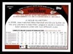 2009 Topps #47  Jose Valverde  Back Thumbnail