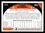 2009 Topps #18  George Sherrill  Back Thumbnail